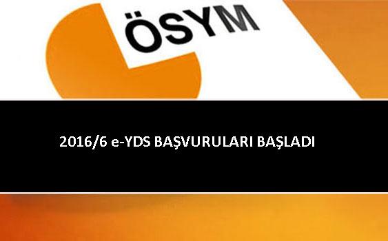 2016/6 E-YDS BAŞVURULARI BAŞLIYOR