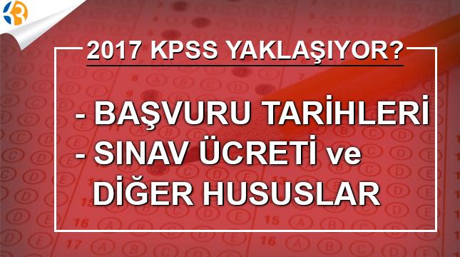 KPSS sınavı başvuruları ne zaman? 2017 Mart