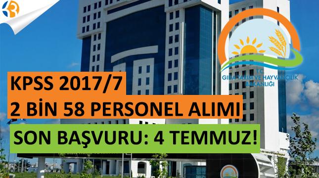 KPSS 2017/7 2058 Memur Alımı Başvuruları Bitiyor!