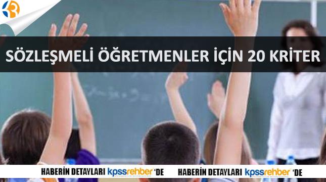 MEB Sözleşmeli Öğretmen Mülakat Sınavında 20 Kriter Açıkladı