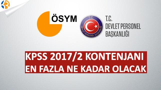 KPSS 2017/2 Memur Alımı Kontenjanları En Fazla Ne Kadar Olacak
