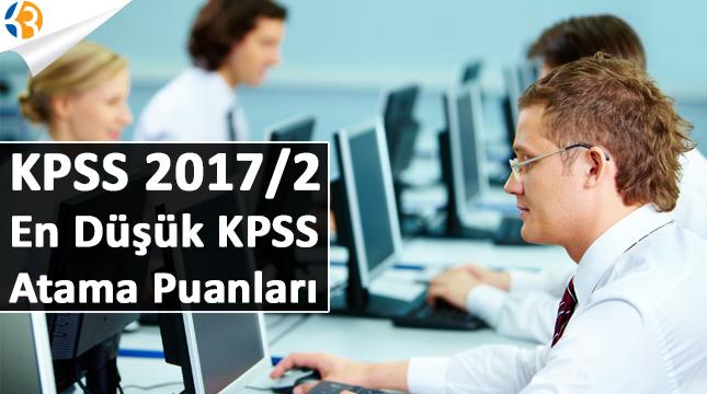 KPSS 2017/2 Mezuniyetlere Göre En Düşük KPSS Atama Puanları!