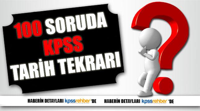2016 KPSS için 100 Soruda Tarih Tekrarı