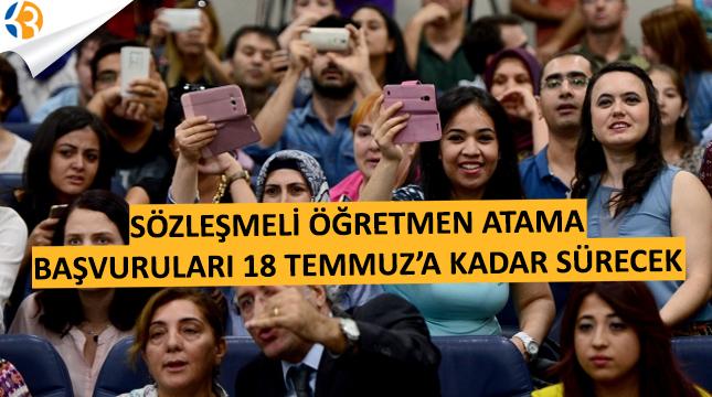 20 Bin Sözleşmeli Öğretmen Atama Başvuruları 18 Temmuz