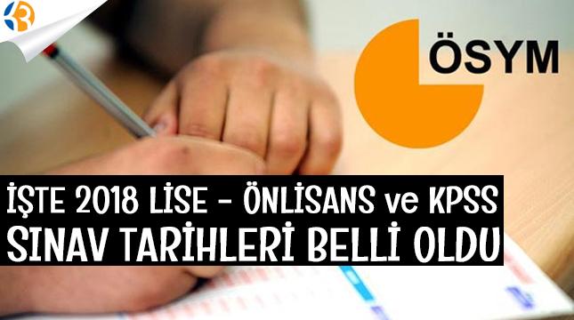 2018 KPSS Ortaöğretim-Önlisans Sınavı Ne Zaman Yapılıyor?