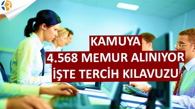 Tercih Kılavuzu Yayınlandı! Kamuya 4 Bin 568 Personel Alımı Yapılıyor