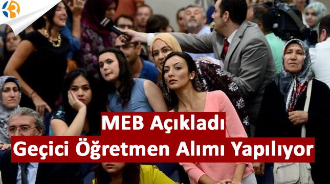 MEB Açıkladı: Geçici Öğretmen Ataması Yapılıyor