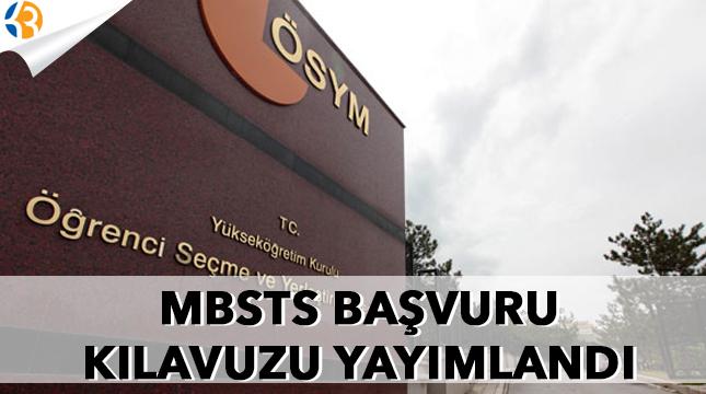 MBSTS başvuru kılavuzu yayımlandı