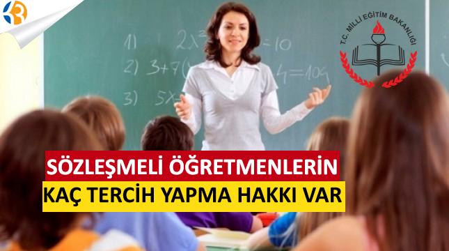 Sözleşmeli Öğretmenler Kaç Tercih Yapabilir?