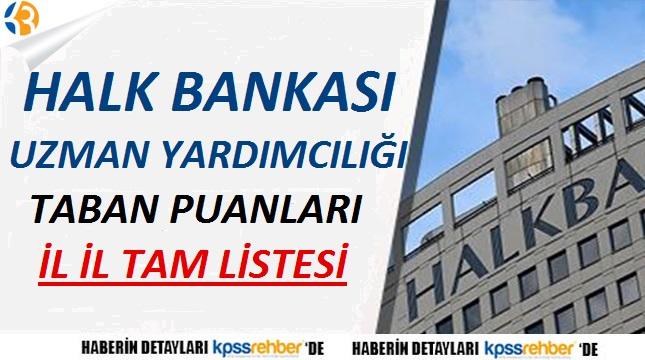 Halk Bankası Uzman Yardımcılığı Taban Puanları