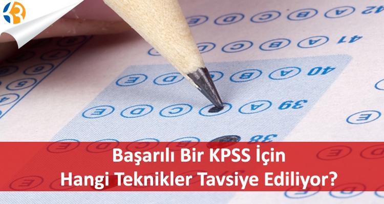 Başarılı Bir KPSS İçin Hangi Teknikler Tavsiye Ediliyor?