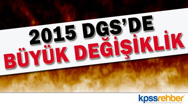 2015 DGS Kontenjanlarında Düşüş Var
