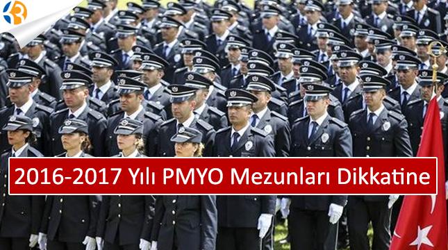 2016-2017 Yılı PMYO Mezunlarının Dikkatine!
