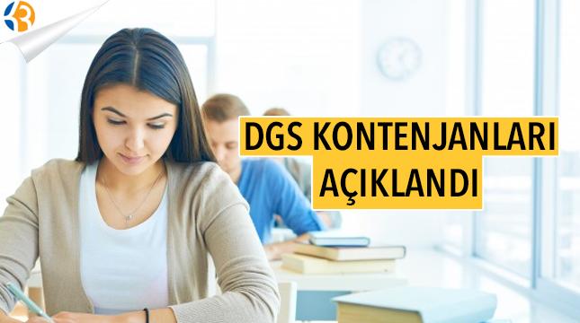 2017 DGS Kontenjanları Açıklandı!