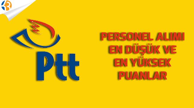 PTT Sözleşmeli Personel Alımı Taban ve Tavan Puanları