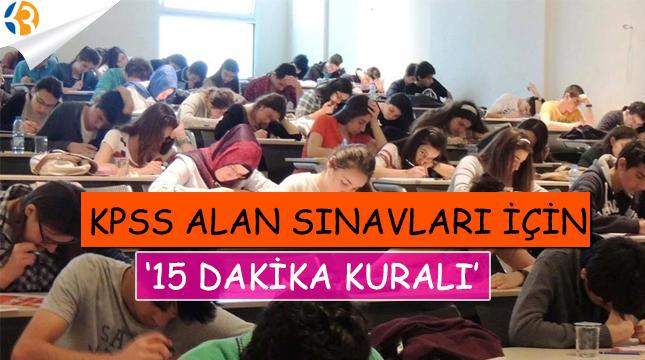 KPSS alan sınavları için