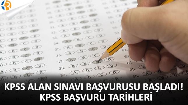 KPSS alan sınavı başvurusu başladı! KPSS başvuru tarihleri