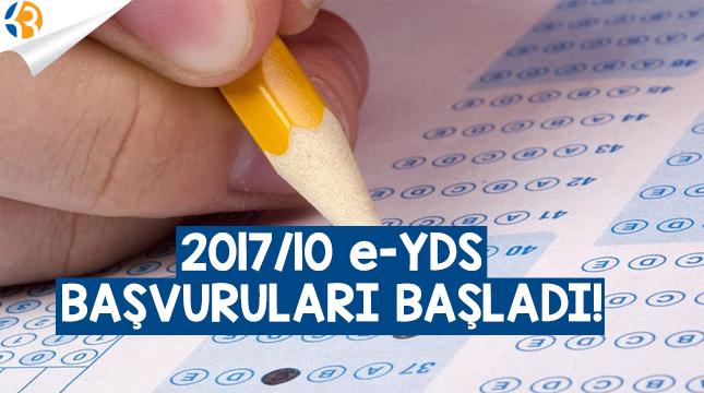 2017/10 e-YDS Başvuruları Başladı!
