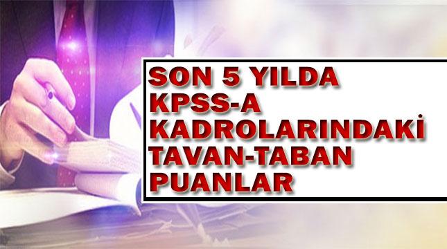 KPSS-A Kadrolarındaki Son 5 Yılındaki Taban Puanlar