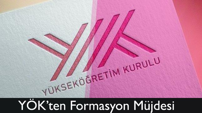YÖK'ten Formasyon Müjdesi